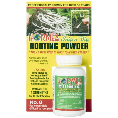 Hormex Snip n' Dip Rooting Powder #8 - 3/4 oz (12/Cs)