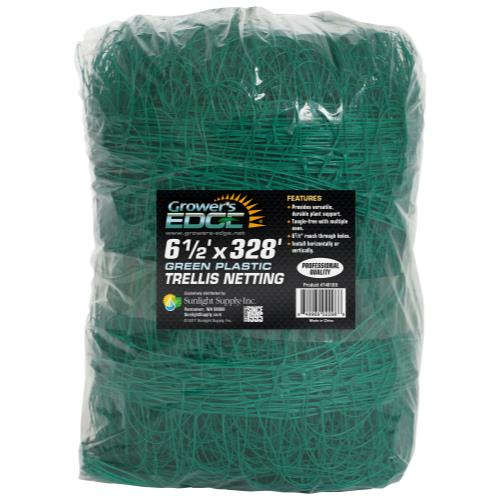 Grower's Edge Green Trellis Netting 6.5 ft x 328 ft (6/Cs)