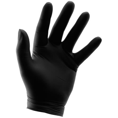 Grower's Edge Black Powder Free Nitrile Gloves 6 mil - Medium (100/Box)