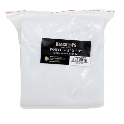 Black Ops Replacement Pre-Filter 8 in x 39 in White (10/Cs)
