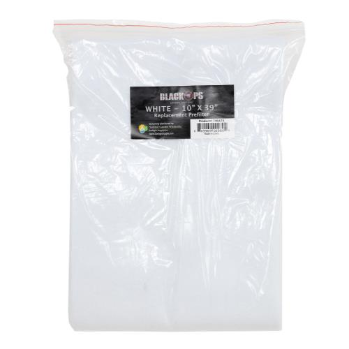 Black Ops Replacement Pre-Filter 10 in x 39 in White (10/Cs)