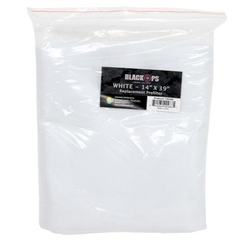 Black Ops Replacement Pre-Filter 14 in x 39 in White (10/Cs)