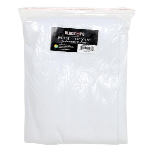 Black Ops Replacement Pre-Filter 14 in x 48 in White (10/Cs)