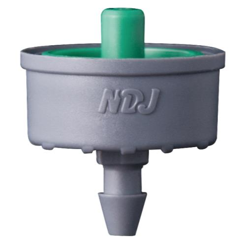 Hydro Flow Click-Tif Pressure Compensated Dripper w/ Check Valve 2.0 GPH Green (1=100/Bag)