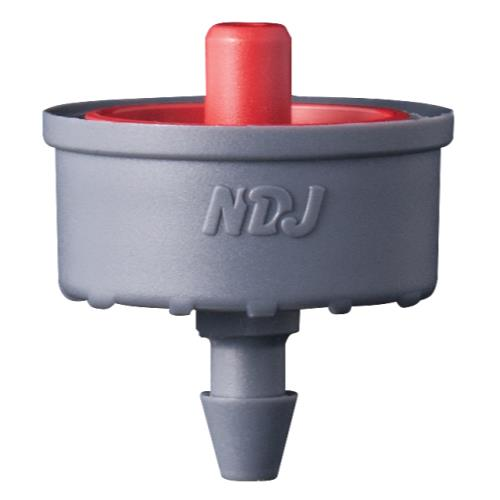 Hydro Flow Click-Tif Pressure Compensated Dripper w/ Check Valve 3.0 GPH Red (1=100/Bag)