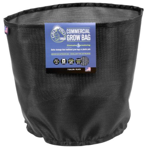 Gro Pro Elite 7 Gallon Black Commercial Grow Bag (50/Cs)