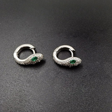 Small round snake-shaped earrings