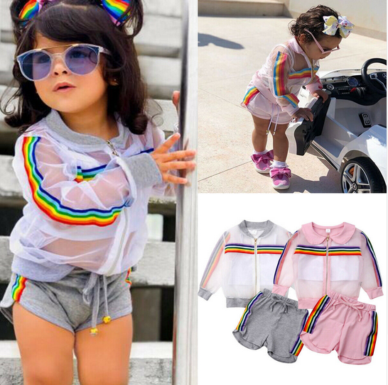 3-piece suit Raimbow Baby, top jacket and shorts