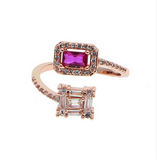 Double stone romantic ring