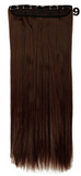 Long and straight hair extensions with clip applications