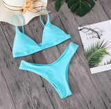Two-piece Greta swimsuit triangular bikini and Brazilian briefs