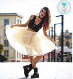 Gonna in tulle lunga a vita alta 7 Strati - @ShopLowCost