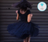 Gonna lunga a vita alta in tulle blu 7 Strati - @ShopLowCost
