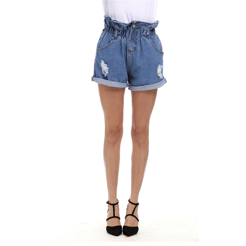 Kry jeans shorts ripped and stretch Vintage Denim