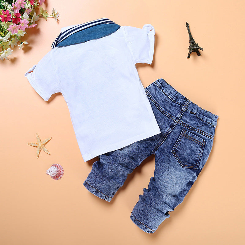 Complete Kevin boy short shirt and long jeans