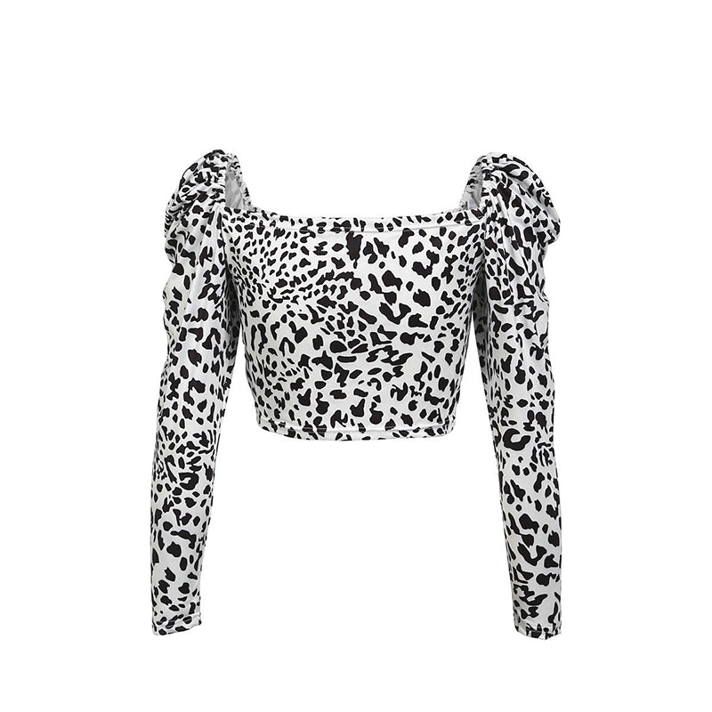 Vicky long-sleeved shirt with spotted print