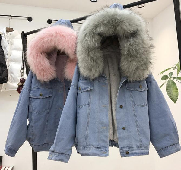 Giubbotto Denim Fur