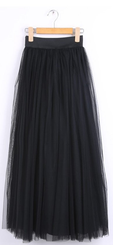 Gonna nera in tulle a vita alta Maxi Tulle - @ShopLowCost