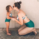 Sweet Green mother and daughter swimsuit set