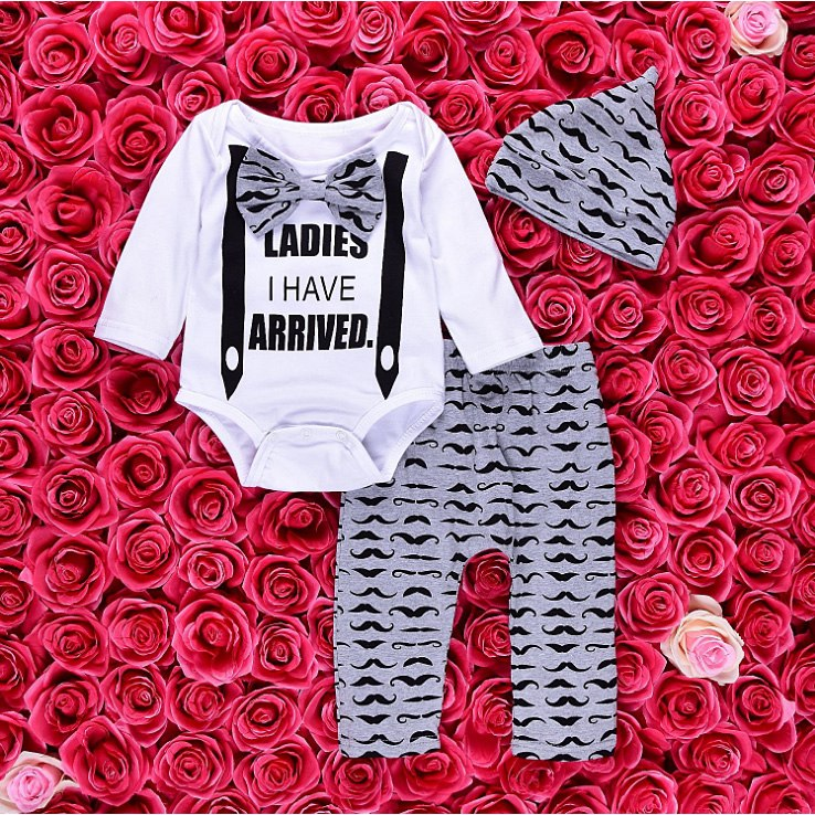 Latin Lover 3-piece baby set