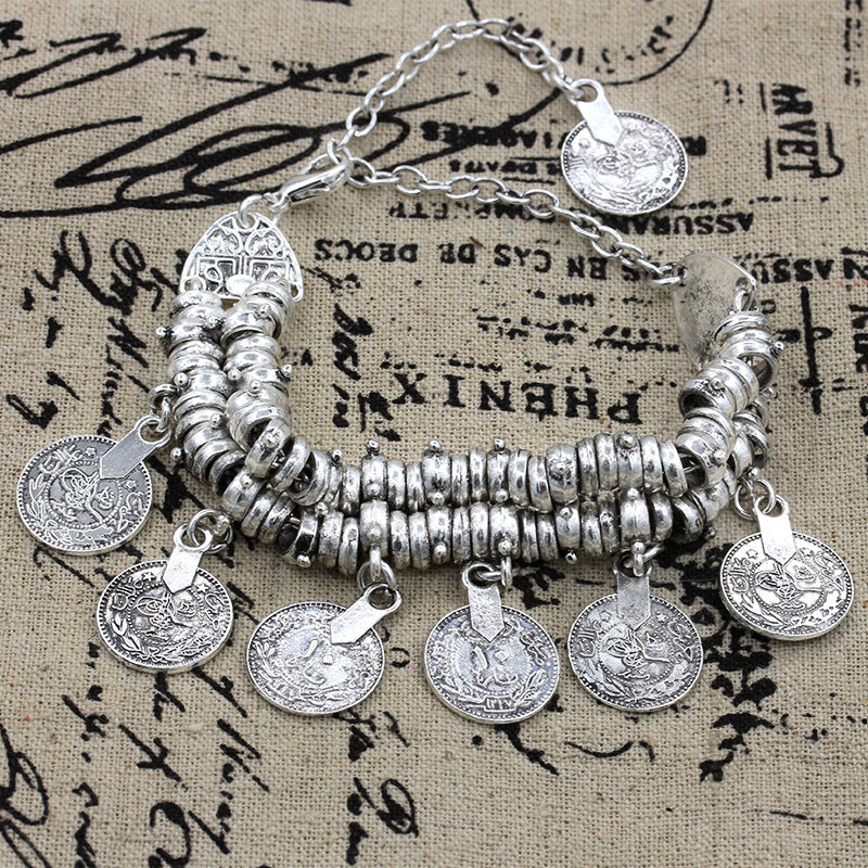Penny anklet with charms