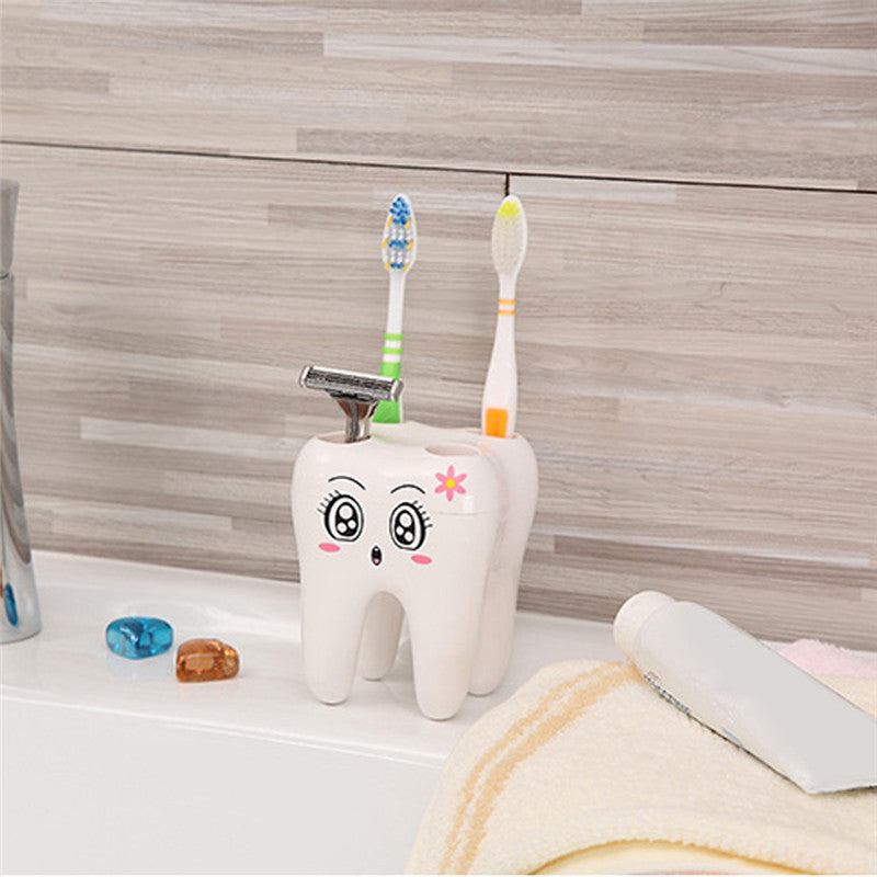 Smily toothbrush holder