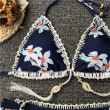 Two-piece Aurea swimsuit with floral print