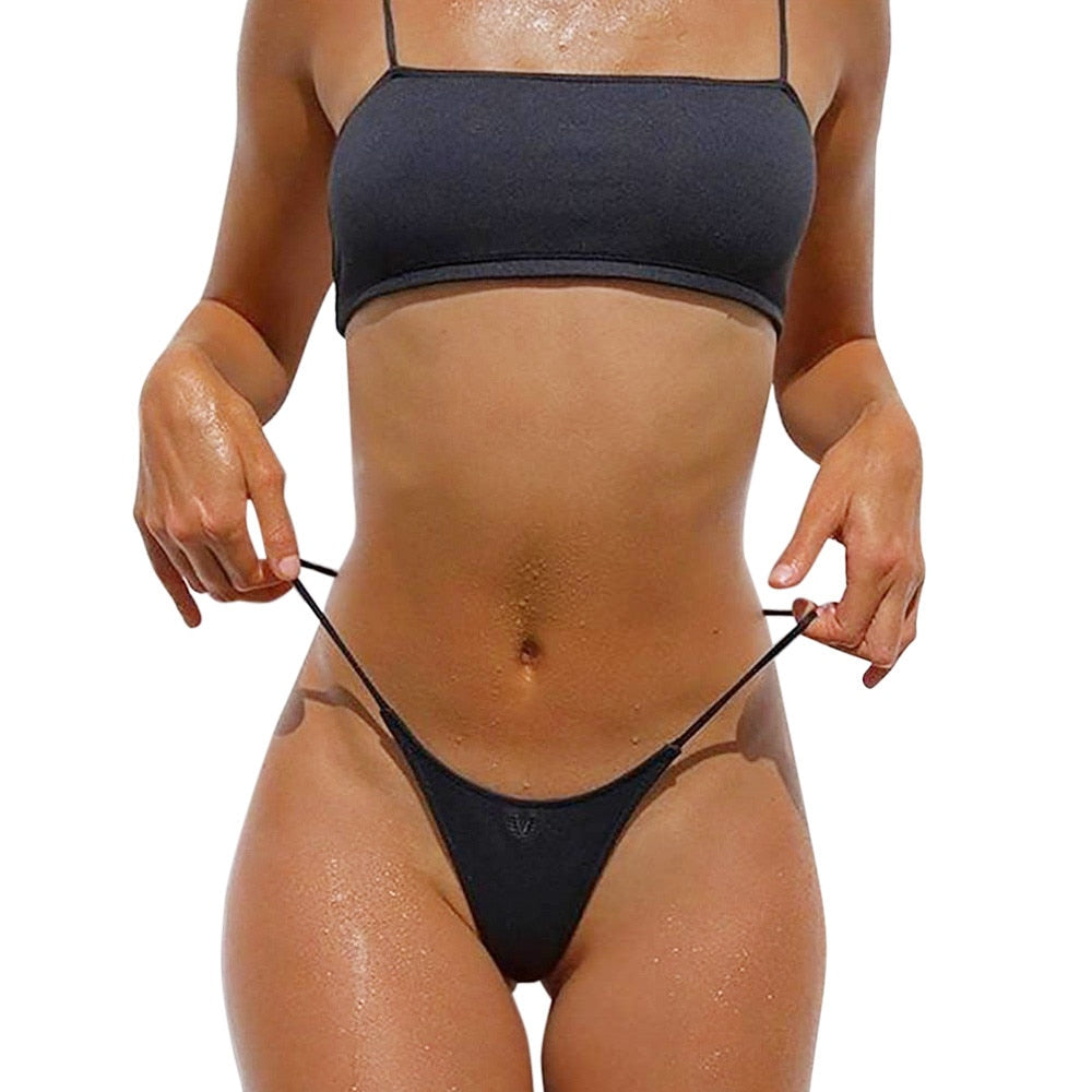 Two-piece Imy swimsuit with band
