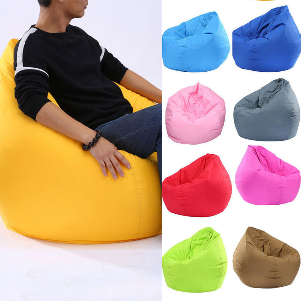 Colored pillowcases for Pouf