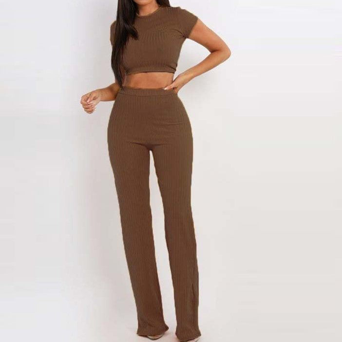 Arial crop top and trousers set
