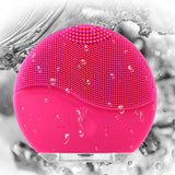 Deep vibration silicone brush for facial cleansing
