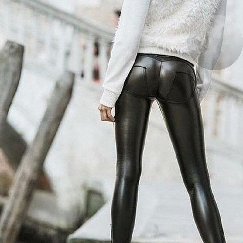 Leggings Black Cat lucidi effetto pelle Skinny