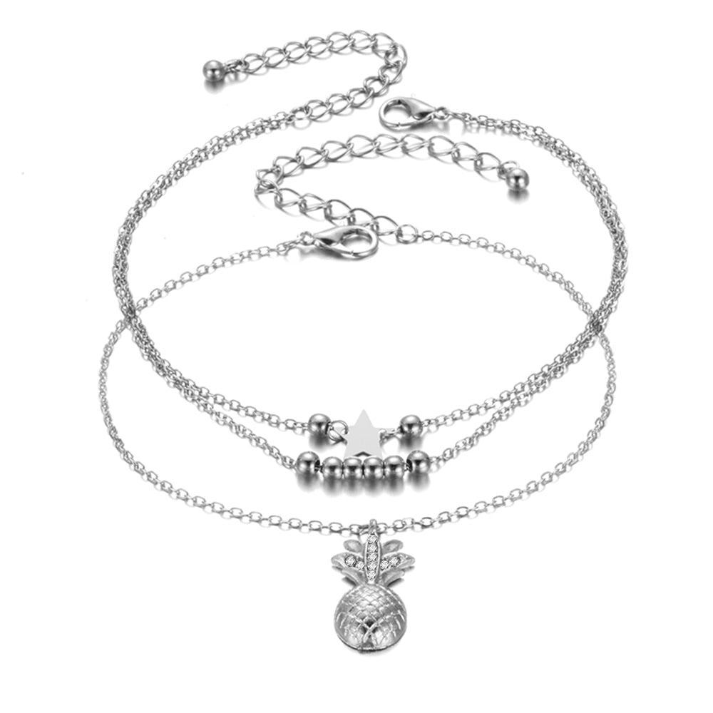 Fruit Star anklet with charms