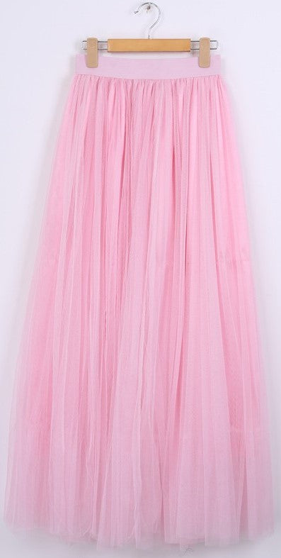 Gonna in tulle rosa a vita alta Maxi Tulle - @ShopLowCost