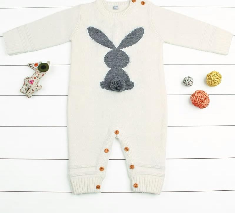 Kid's Knitted Rabbit Suit
