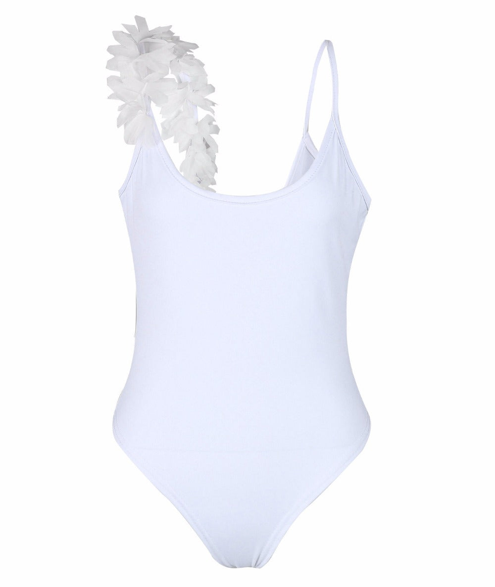 Trikini one-piece Mimi swimsuit with floral frappe