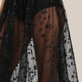Gonna in tulle trasparente nero Black Sparkle - @ShopLowCost