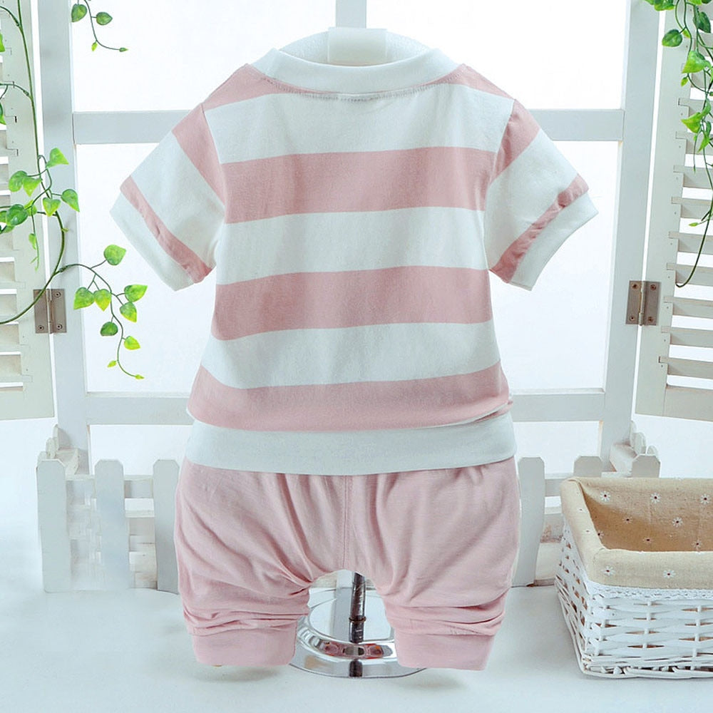 Mr Niko baby sweet teddy bear shirt and shorts set