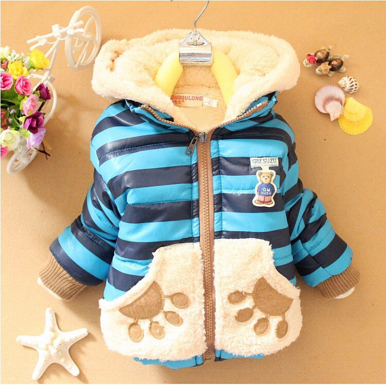 Cappotto Teddy Baby a righe