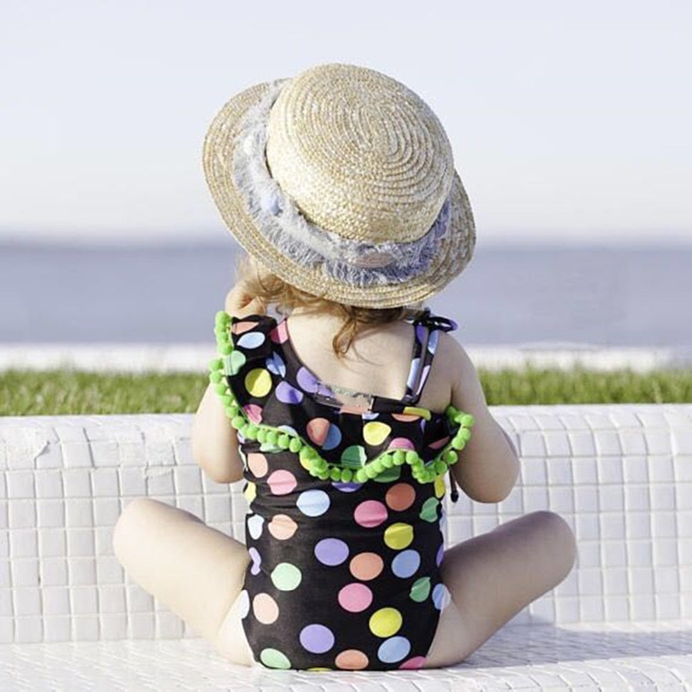 Two-piece Baby Color swimsuit and one-shoulder one-piece for girls