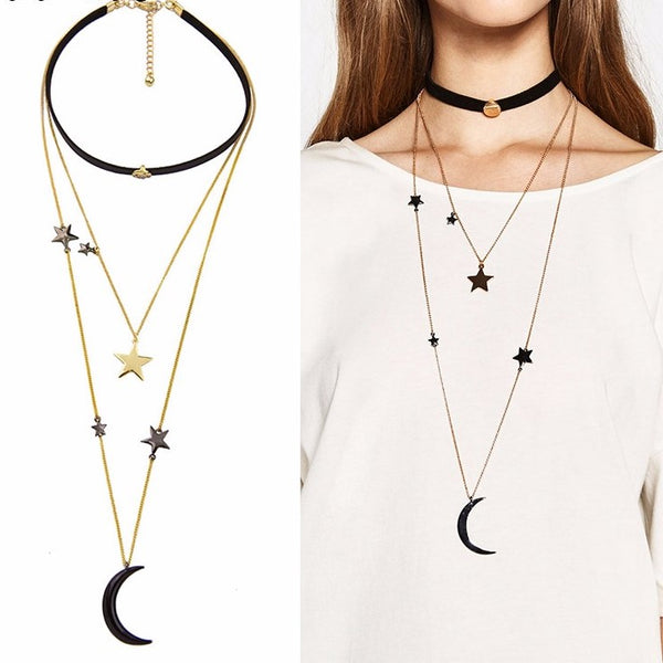 Collana Stars and Moon_ lunga