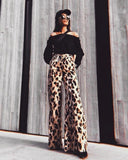 Amber high-waisted trousers
