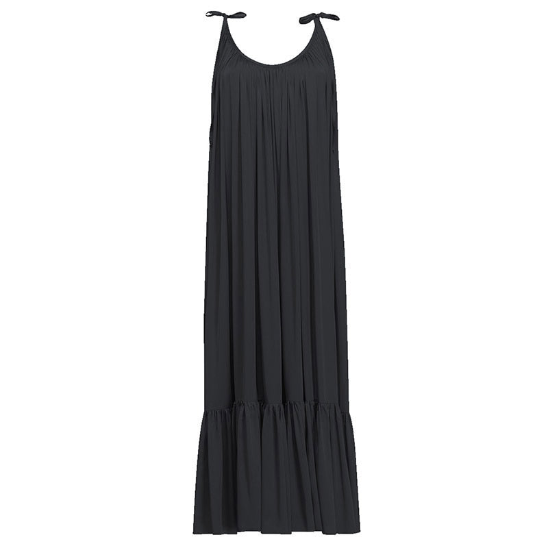 Long sleeveless high-waisted Toronto dress