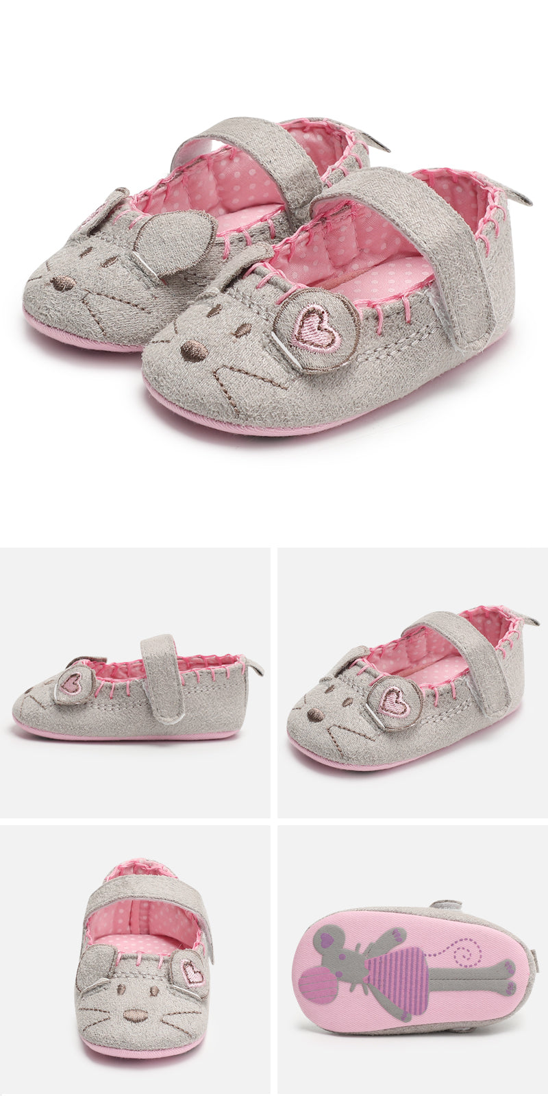 Mickey Mouse baby girl Minny shoes