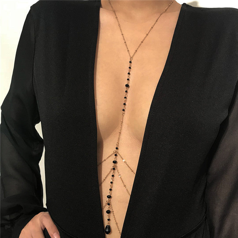 Long tie necklace