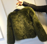 Giacca in ecopelle Furry Biker