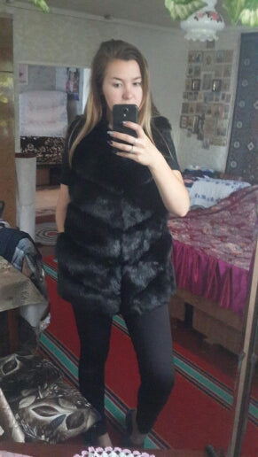 Sleeveless in eco fur lined Chalet