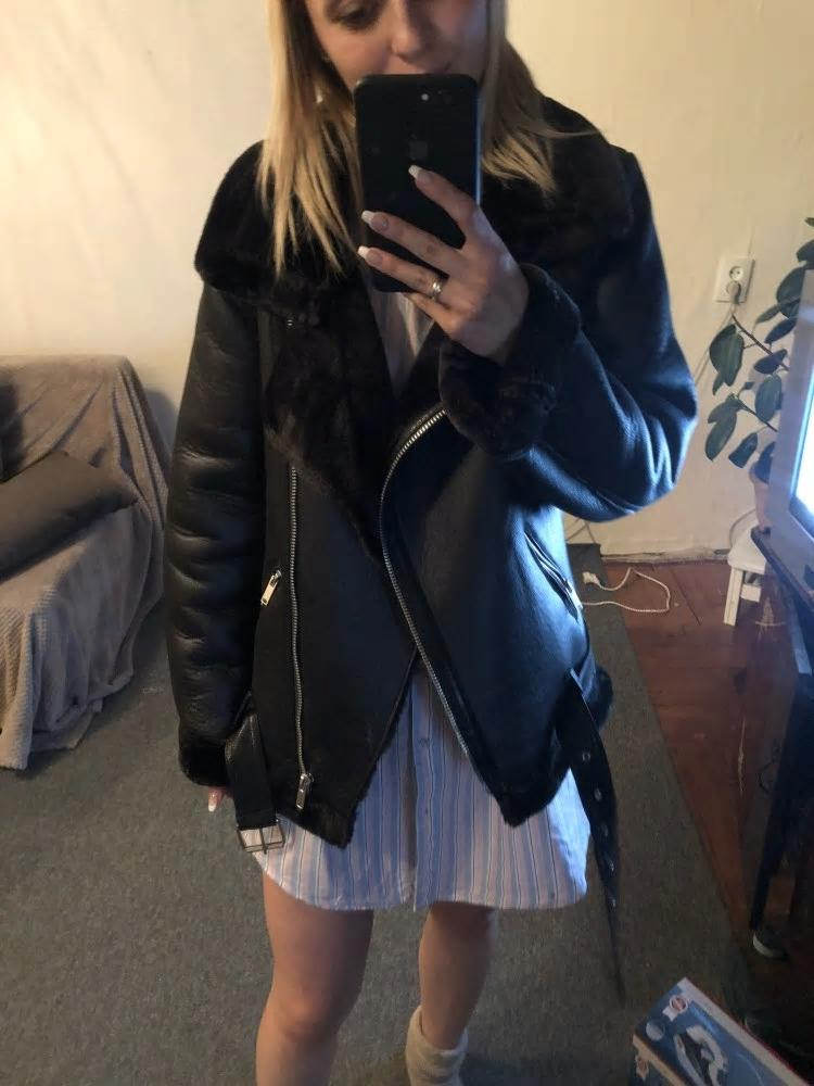 Leather Taylor long-sleeved faux leather jacket