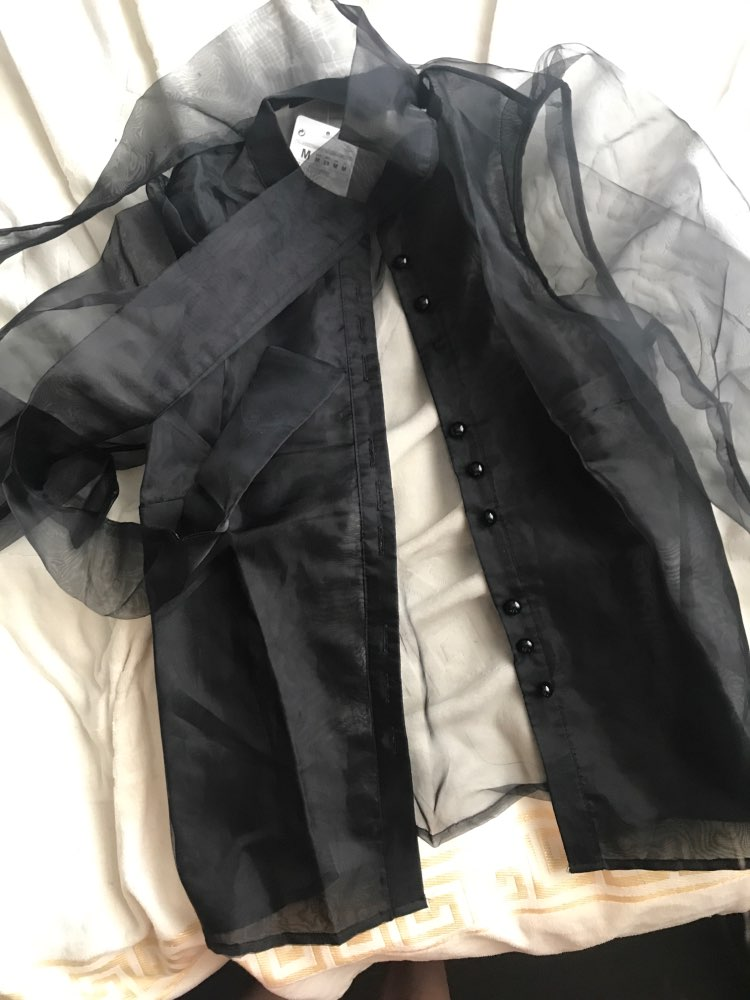 Black Party chic shirt in black organza
