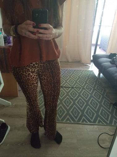 Shelly flared trousers